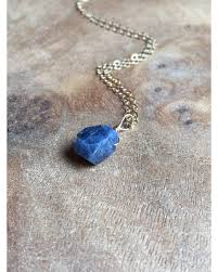 sapphire jewelry necklace images Don 39 t miss this deal on raw sapphire necklace raw stone necklace