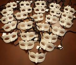 unpainted masks venetian masks unpainted party pack