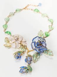 glass flower necklace images Chanel glass enamel flower necklace for sale at 1stdibs jpeg