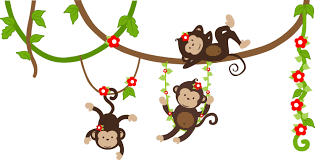 monkey swinging on vine clipart clipart collection vector nursery wall decals monkey