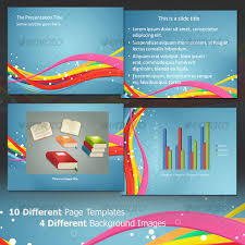 waves in colors u2013 professional powerpoint template startupstacks com