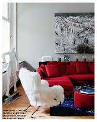 Decorating Living Room With Gray And Blue Contemporary Style Living Room With Silver Gray Walls Cherry Red