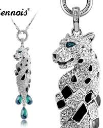 color rhinestone necklace images New viennois fashion jewelry silver color sexy leopard necklace jpg