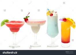 cocktail summer party set isolated strawberry stock photo