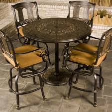 patio bar height dining set bar height patio set with swivel chairs relaxing