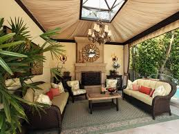 exterior luxurious outdoor covered sitting room decorations