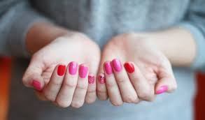 unique pink red nail polish for nail design ideas with pink red