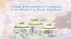Sunflower Canisters For Kitchen Using Decorative Canisters Can Perk Up Your Kitchen