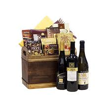 wine gift baskets free shipping delight wine gift basket by pompei baskets