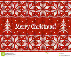 knit christmas and white christmas knit greeting card royalty free stock