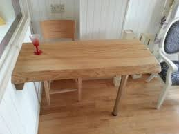Oak Breakfast Bar Table Oak Breakfast Bar Table With Items Similar To Ripple