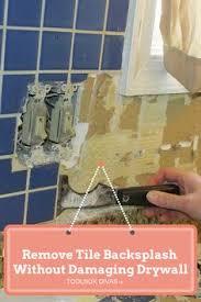 removing kitchen tile backsplash how to remove backsplash from your kitchen tutorial