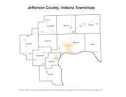 State Of Jefferson Map Township Maps Stats Indiana