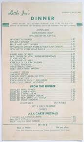 1966 original thanksgiving dinner menu hotel bel air los angeles
