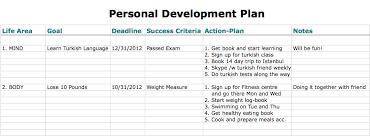 6 free personal development plan templates excel pdf formats