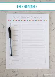 spring cleaning tips free printable i heart nap time