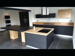 cuisine noir mat et bois cuisine noir mat et bois 7 plan de travail meonho info