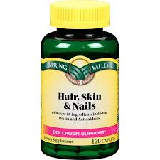 spring valley hair skin u0026 nails caplets 120 ct walmart com
