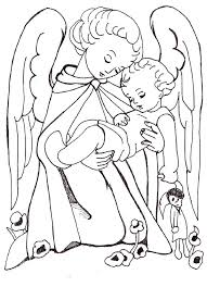 guardian angel prayer coloring christmas coloring