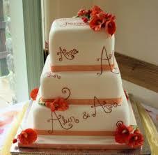 wedding cake name wedding cakes 3 tier ivory wedding cake painted with names