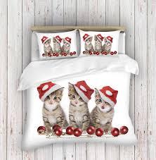 Christmas Duvet Covers Uk 3d Photo Print Christmas Cats Duvet Cover Set Used Duvet Covers