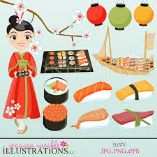 clipart cuisine sushi digital clipart japanese cuisine sushi clip