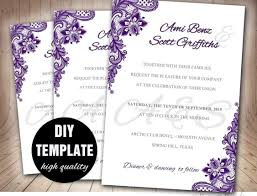wedding purple and gold royal wedding invitations awesome purple