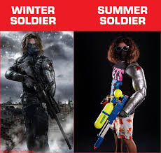 Winter Soldier Meme - winter soldier vs summer soldier lol imgur