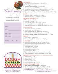 2017 thanksgiving menu from dough on river merchants