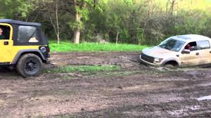 Ford Raptor Mini Truck - jeep wrangler pulls out ford raptor youtube