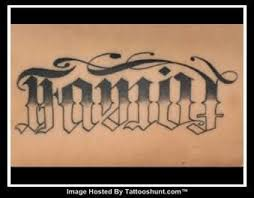 family forever ambigram grey ink on back tattooshunt com