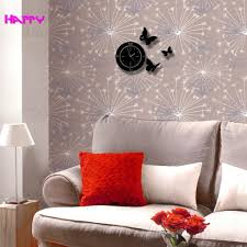 circles with butterfly wall clocks mirror clock home decor circles with butterfly wall clocks mirror clock home decor stickers watches best gift for living room