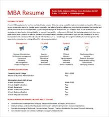 Physical Education Resume Examples by Innovation Idea Mba Resume Sample 5 Mba Resume Template 11 Free