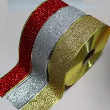 ribbon with wire 100yards 2 5 63mm 3 color silver gold ribbon with wire on