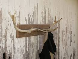 rustic deer antler coat rack for him wall decor rustic home
