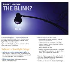 report a street light out streetlight outage