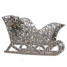 Outdoor Sleigh Decoration Outdoor Christmas Decorations Seasonal Decor Shop The Best Deals