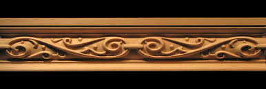 moulding ornamental iron carved wood