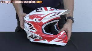 shoei motocross helmet shoei vfx w werx helmet review youtube