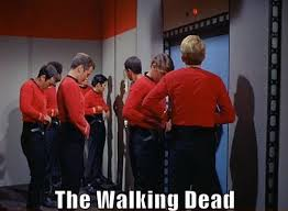 Red Shirt Star Trek Meme - star trek redshirt aka the walking dead jpegy what the internet