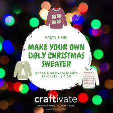 make your own ugly christmas sweater party craftivate u2014 craftivate
