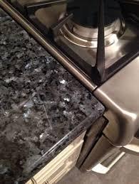Blue Pearl Granite Countertop  White Kitchen Cabinets With - Blue pearl granite backsplash ideas