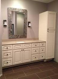 White Linen Cabinets For Bathroom Outstanding Bathroom Vanities With Linen Tower Bathroom Vanities