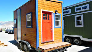 Home Design 8x16 Ultra Tiny House On Wheels With Murphy Bed That Converts Into A