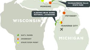Michigan State Parks Map by Northern Michigan U0027s National Lakeshores National Parks
