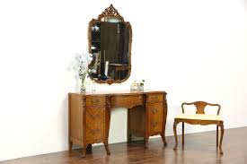 Antique Vanity Mirror Sold French Style Carved Satinwood Vintage Dressing Table Or