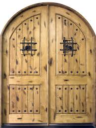 entry door in stock double solid wood with light knotty alder