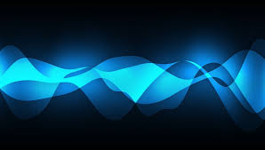 abstract blue wave on black photo and desktop wallpaper download