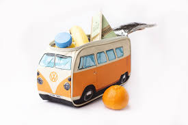 orange volkswagen van volkswagen bus camper van lunch bag orange by monster factory vwlb3