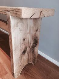 rustic hand made bench reclaimed furniture solid wood chair